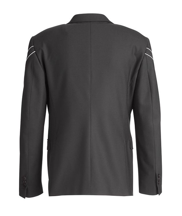 Chevron Stretch-Wool Sports Jacket picture 3