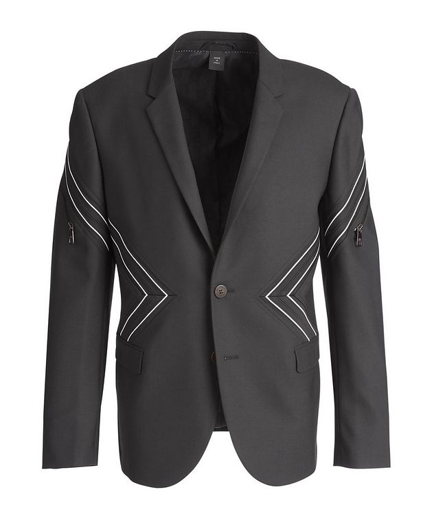 Chevron Stretch-Wool Sports Jacket picture 1
