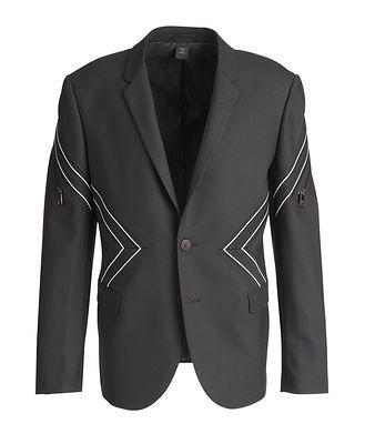 Neil Barrett Chevron Stretch-Wool Sports Jacket