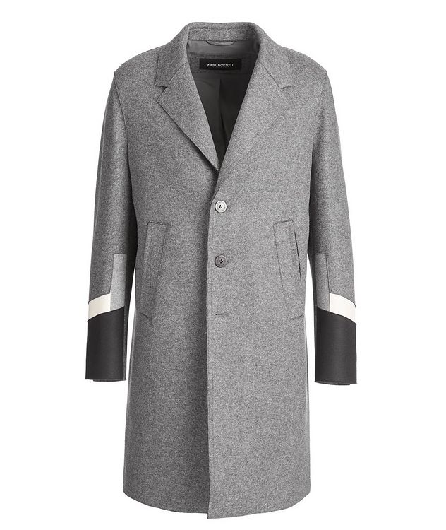 Slim Fit Wool-Blend Overcoat picture 1