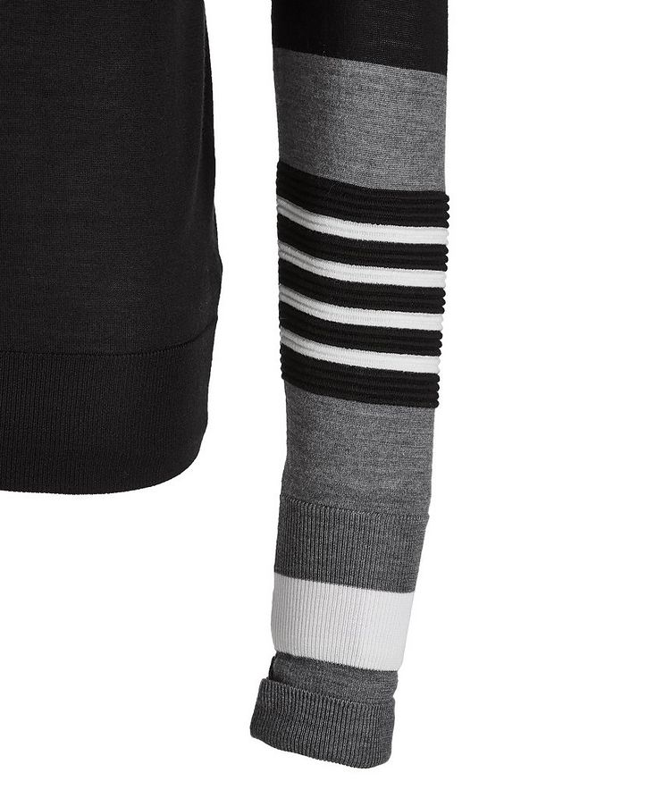 Striped Wool, Silk, and Cashmere Turtleneck image 1