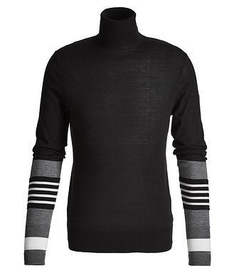 Neil Barrett Striped Wool, Silk, and Cashmere Turtleneck