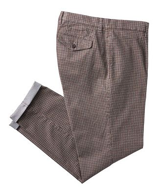 Brax Paul Contemporary Fit Checked Chinos