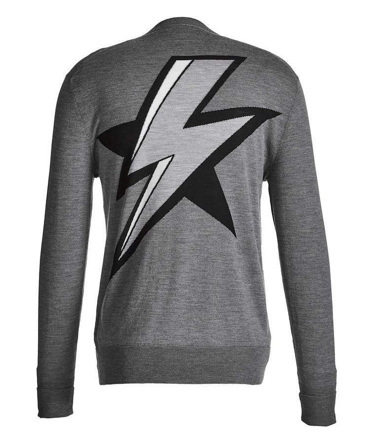 Lightning Bolt Intarsia Wool, Silk, and Cashmere Sweater image 1