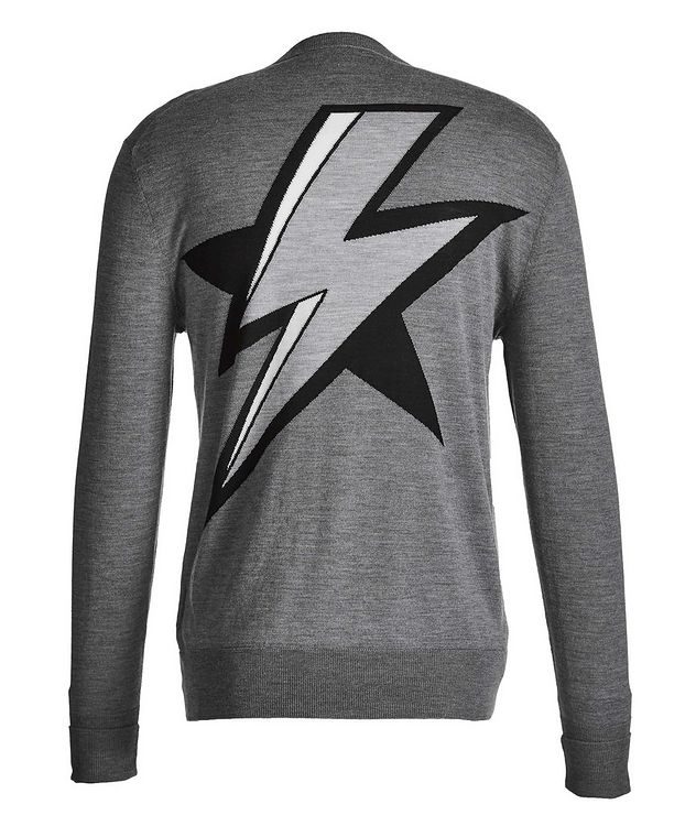 Lightning Bolt Intarsia Wool, Silk, and Cashmere Sweater picture 2