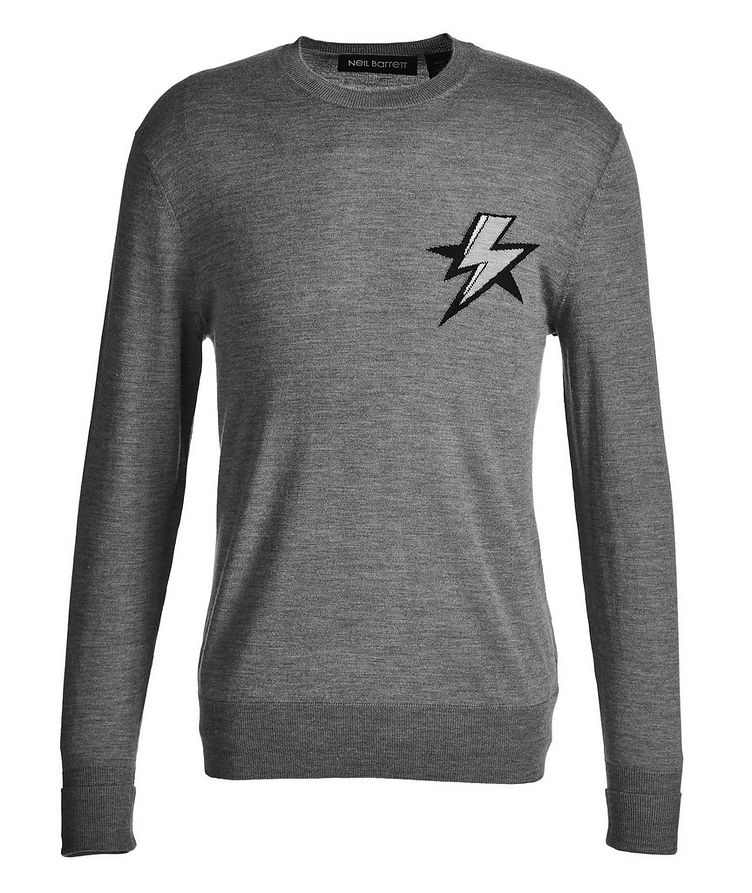 Lightning Bolt Intarsia Wool, Silk, and Cashmere Sweater image 0
