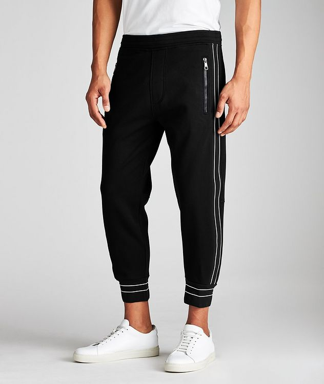 Striped Drawstring Joggers picture 1