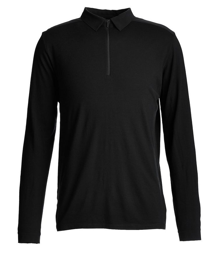 Long-Sleeve Half-Zip Polo image 0