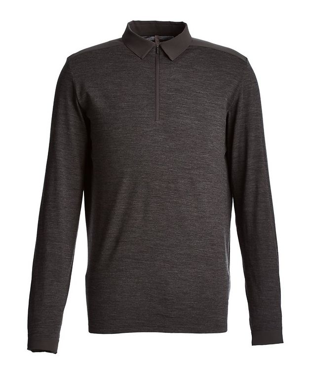Long-Sleeve Half-Zip Polo picture 1