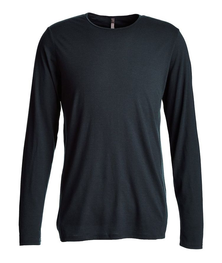 Long-Sleeve Stretch-Wool T-Shirt image 0