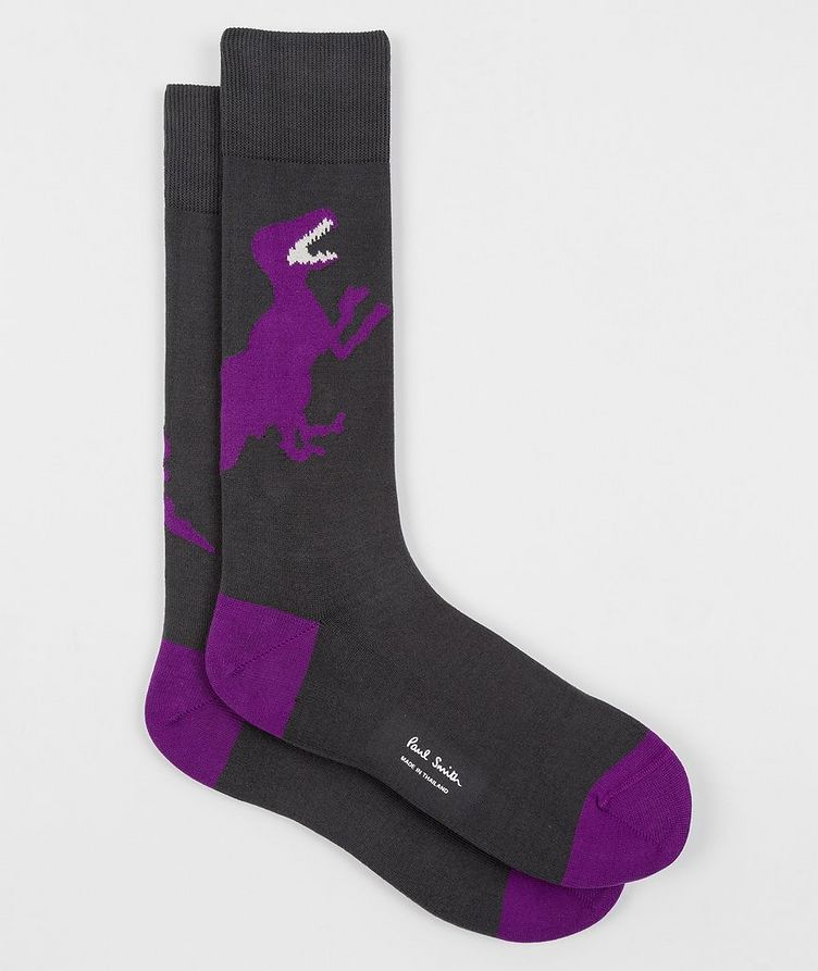 3-Pack Printed Stretch-Cotton Socks image 7