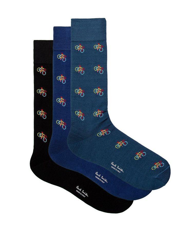 3-Pack Printed Cotton-Blend Socks image 0