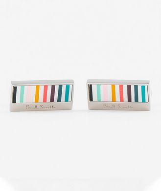 Paul Smith Striped Pearl Cufflinks