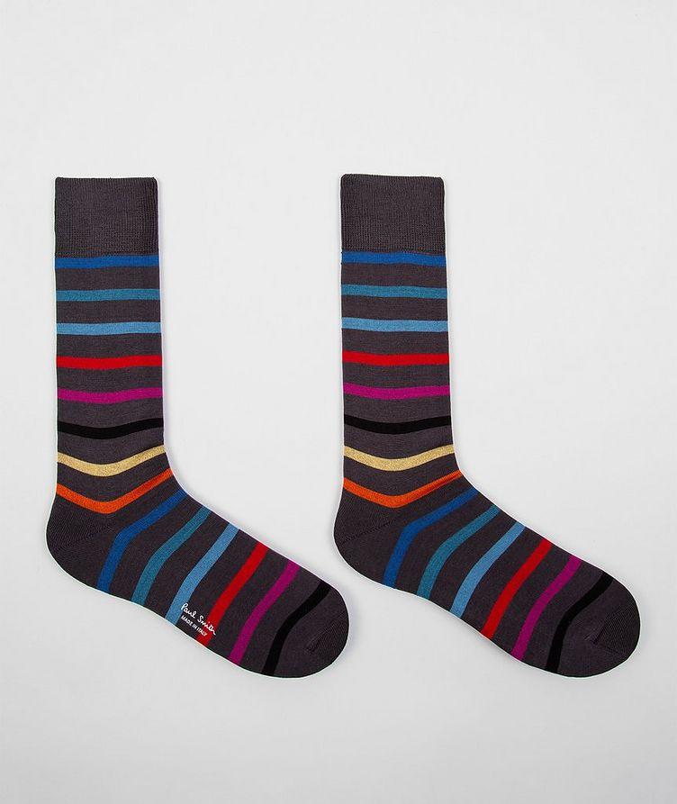 Striped Stretch-Cotton Socks image 2