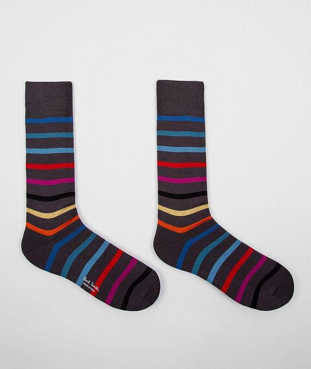 Striped Stretch-Cotton Socks picture 3
