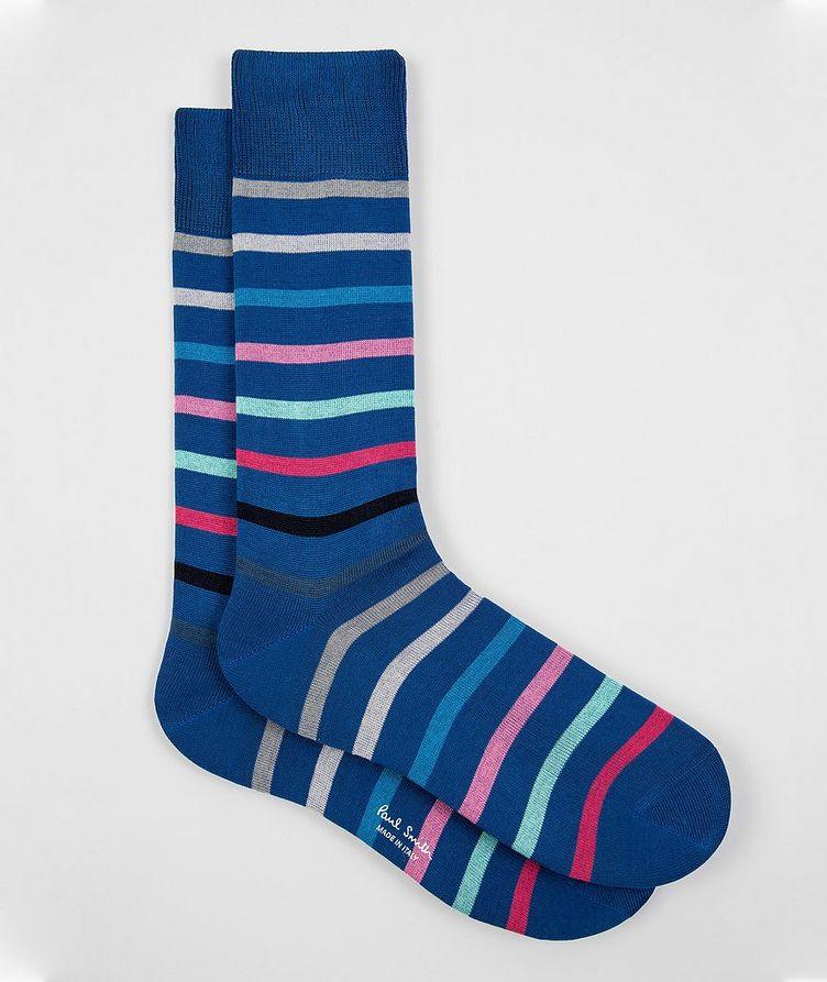Striped Stretch-Cotton Socks image 0