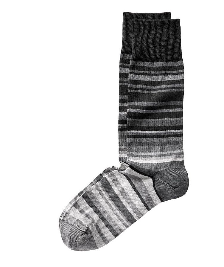 Striped Stretch-Cotton Socks image 0