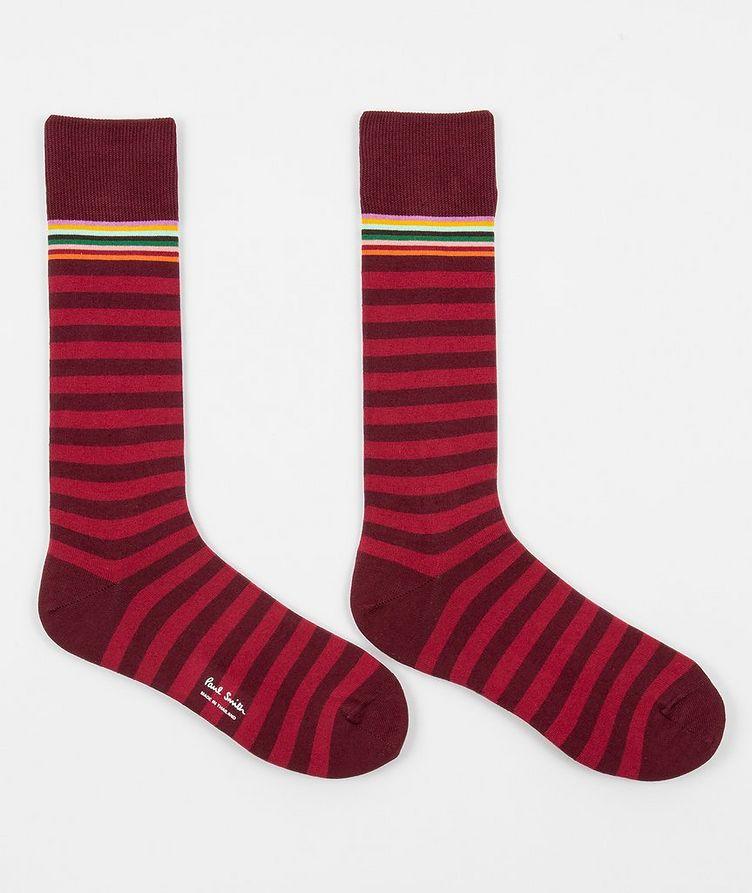 Striped Stretch-Cotton Socks image 1