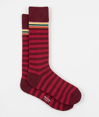 Paul Smith Striped Stretch-Cotton Socks