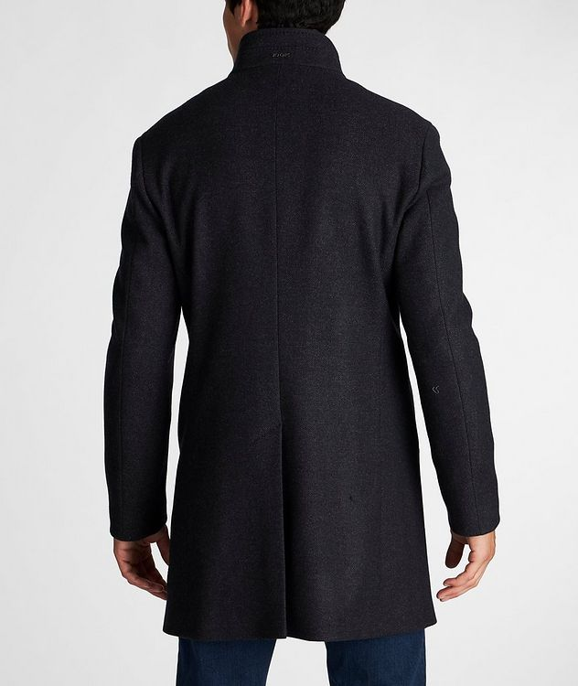 Herringbone Stretch-Wool Overcoat picture 3