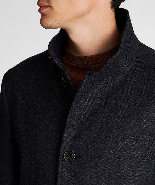 Herringbone Stretch-Wool Overcoat picture 4