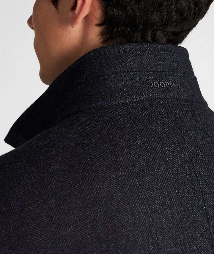Herringbone Stretch-Wool Overcoat image 4