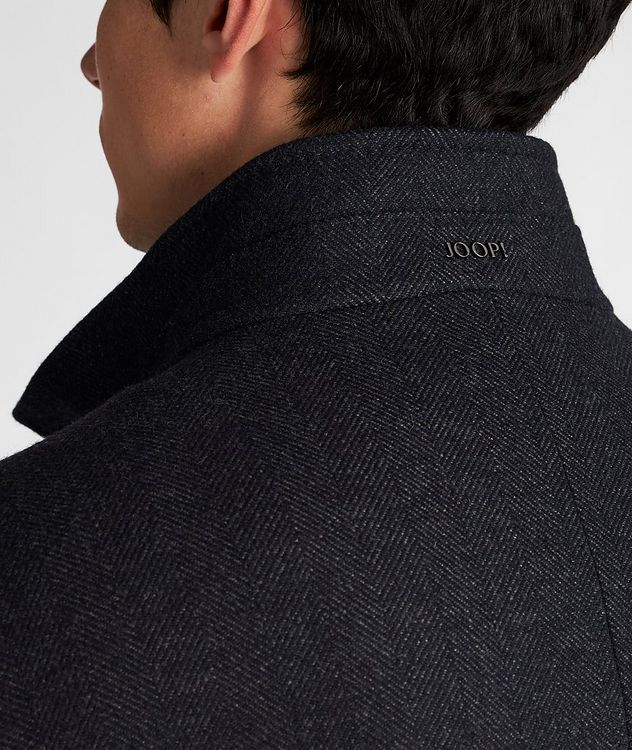 Herringbone Stretch-Wool Overcoat picture 5