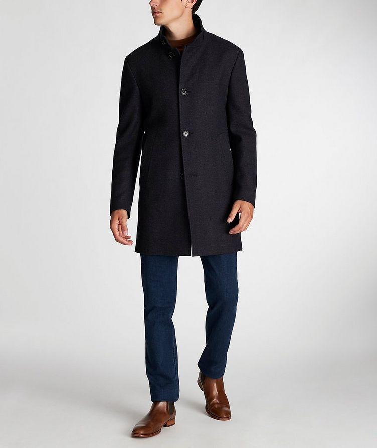 Herringbone Stretch-Wool Overcoat image 5