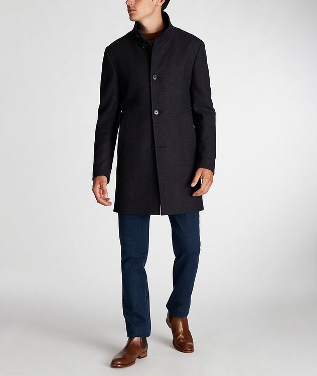 Herringbone Stretch-Wool Overcoat picture 6