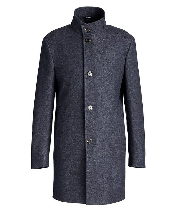 Herringbone Stretch-Wool Overcoat picture 1