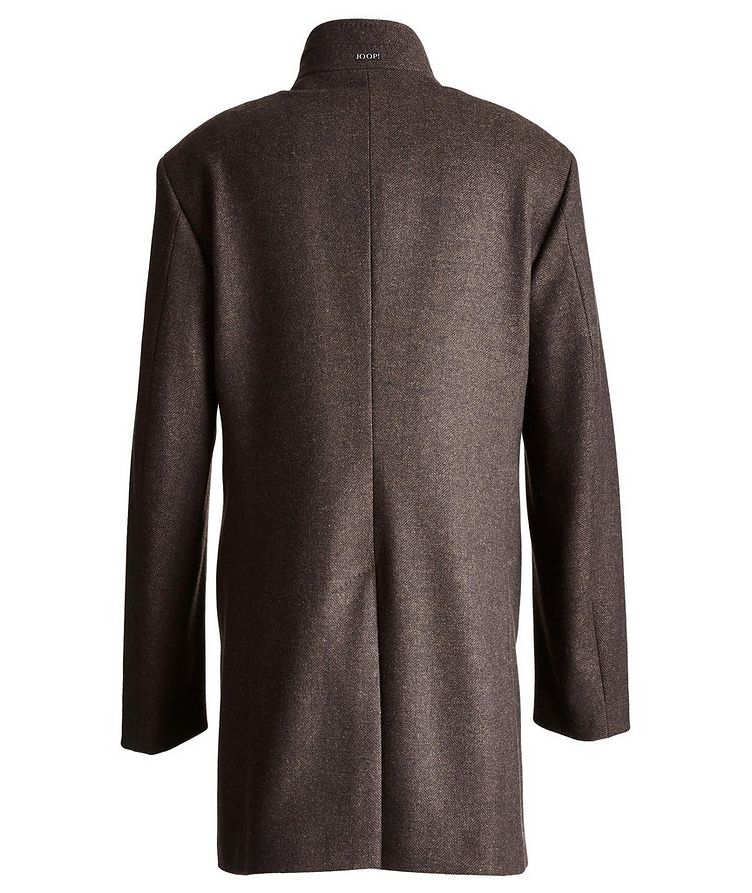 Herringbone Stretch-Wool Overcoat image 1