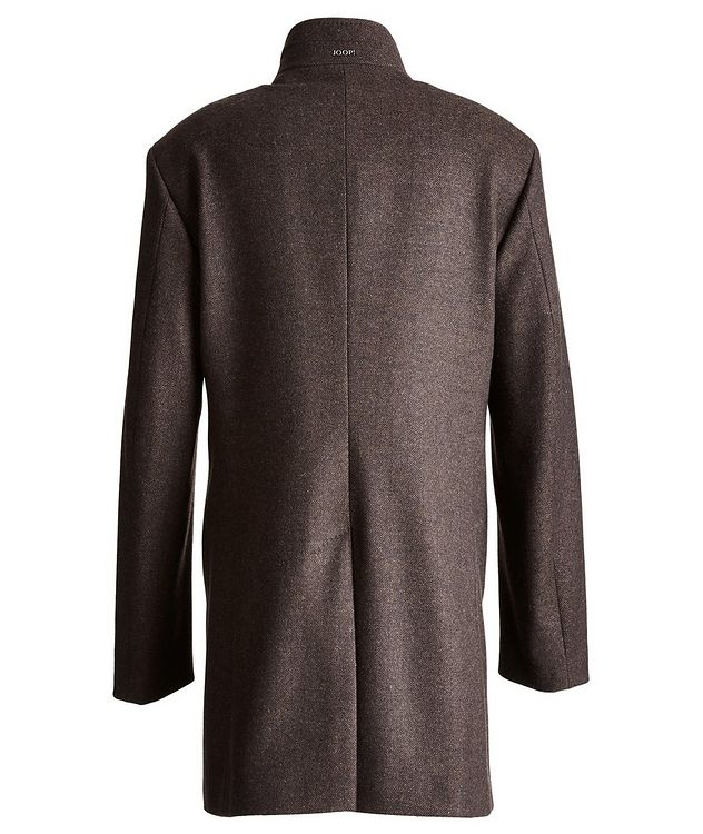 Herringbone Stretch-Wool Overcoat picture 2