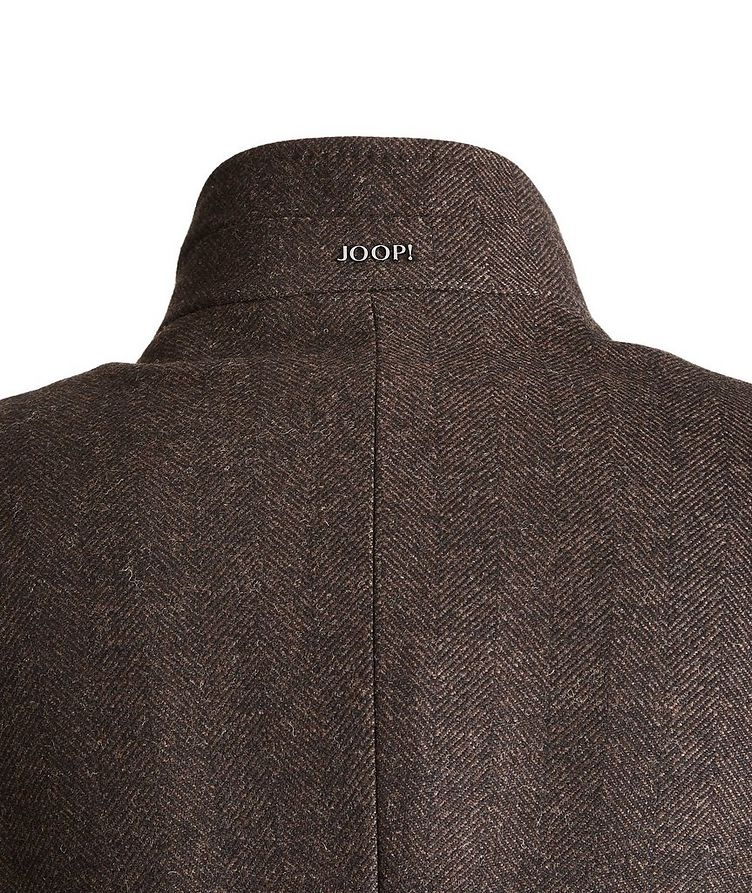 Herringbone Stretch-Wool Overcoat image 3