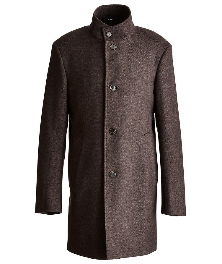 Herringbone Stretch-Wool Overcoat image 0