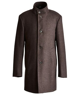 Joop! Herringbone Stretch-Wool Overcoat