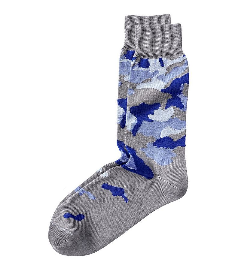 Abstract Camo Print Socks image 0
