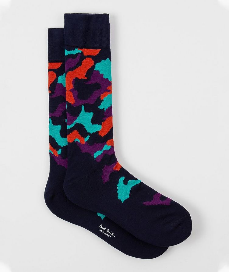 Printed Cotton-Blend Socks image 0