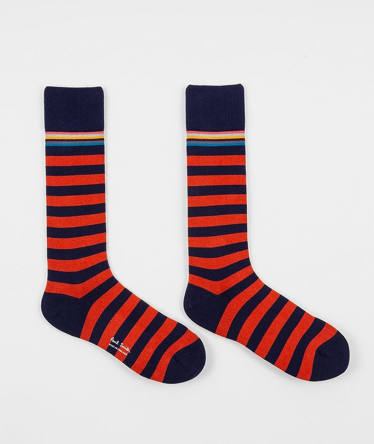2-Pack Printed Stretch-Cotton Socks image 1