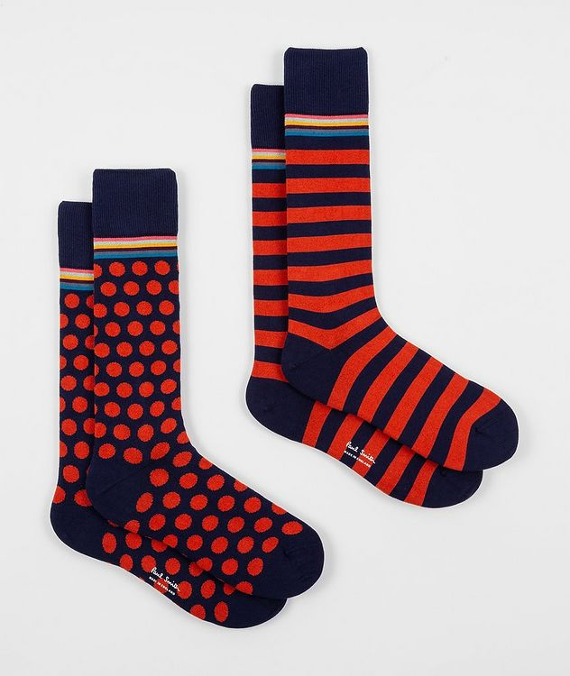 2-Pack Printed Stretch-Cotton Socks picture 1