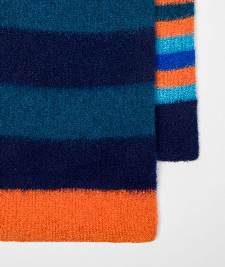 Striped Lamb's Wool Scarf image 2