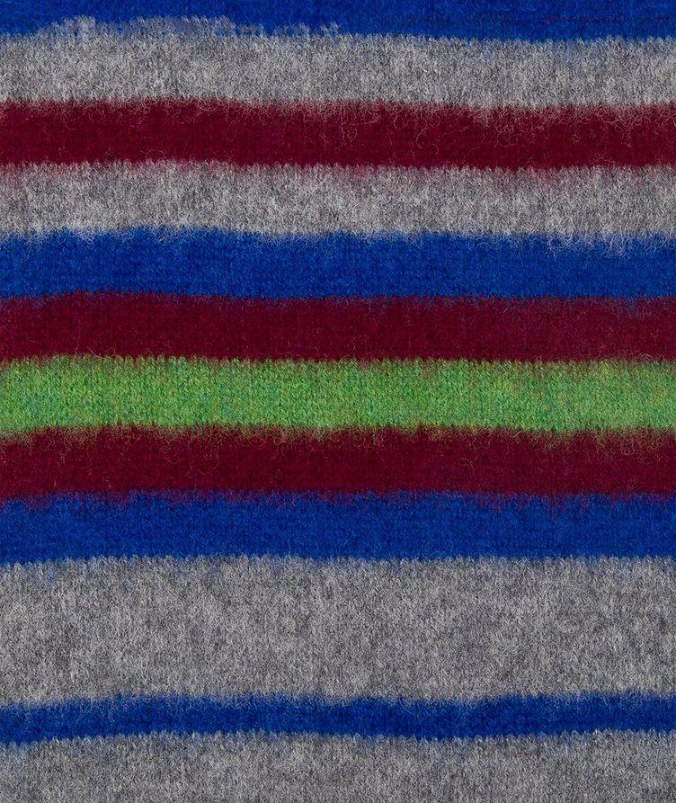Striped Lamb's Wool Scarf image 1