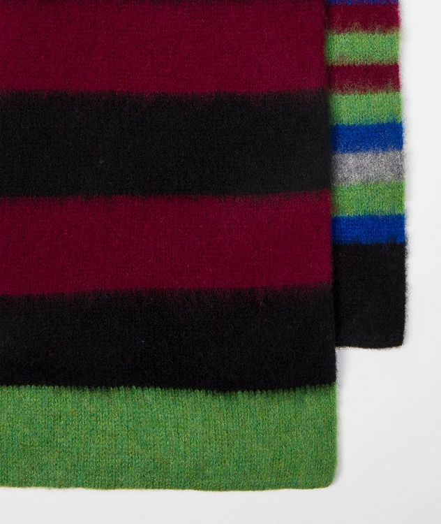 Striped Lamb's Wool Scarf picture 3