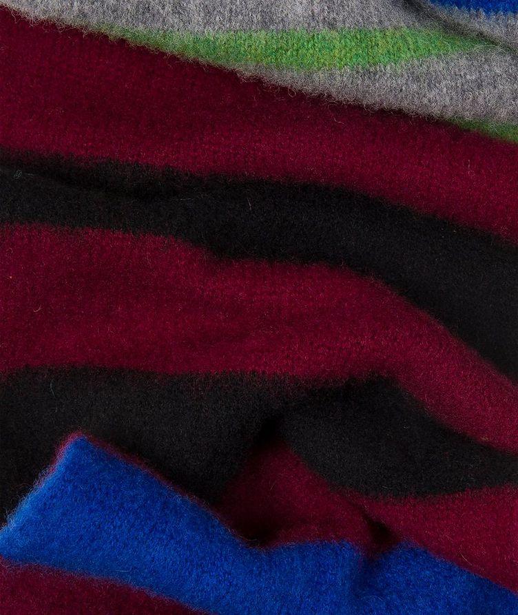 Striped Lamb's Wool Scarf image 3