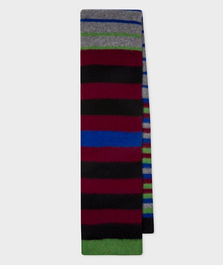 Striped Lamb's Wool Scarf image 0