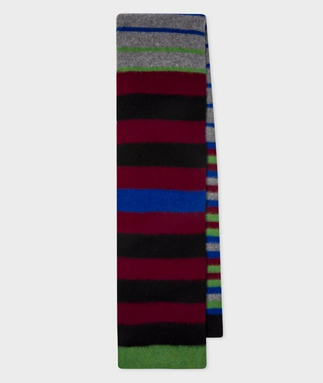 Striped Lamb's Wool Scarf picture 1