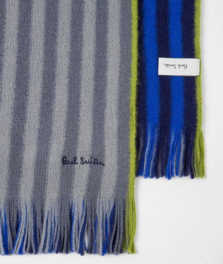 Reversible Striped Wool Scarf image 1
