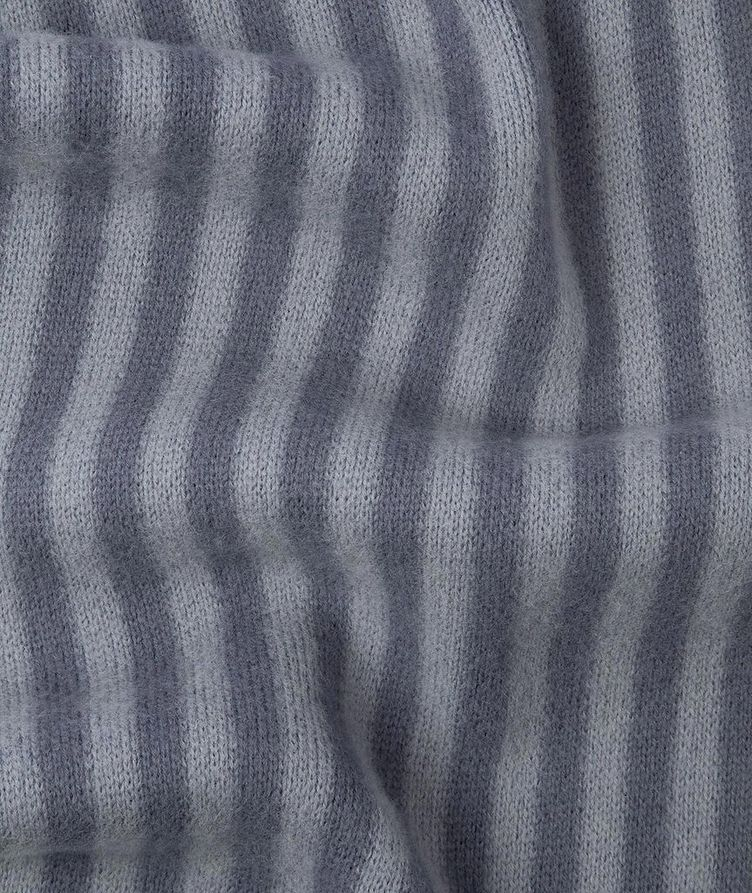 Reversible Striped Wool Scarf image 2