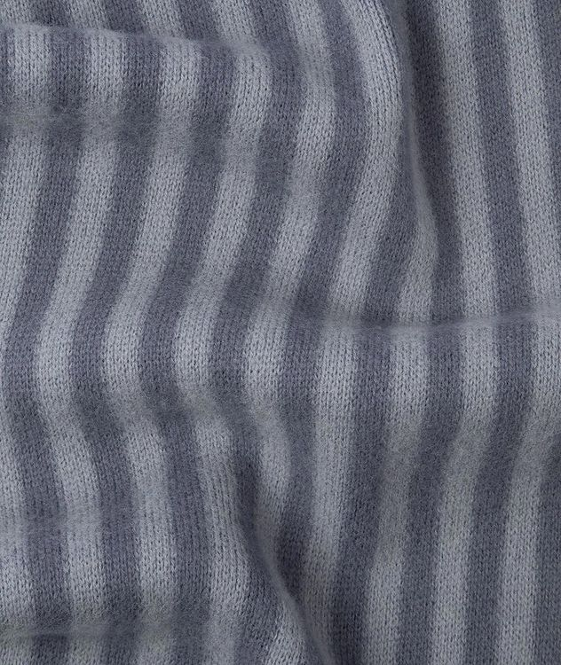 Reversible Striped Wool Scarf picture 3