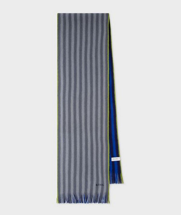 Reversible Striped Wool Scarf image 0