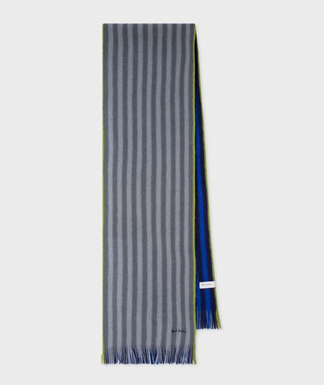 Reversible Striped Wool Scarf picture 1